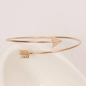 B2G1 🆓 Gold Arrow Open Cuff Bangle Bracelet